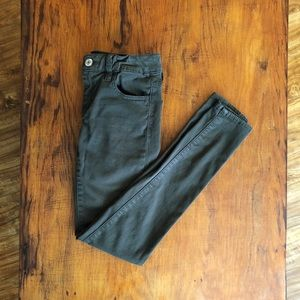 American Eagle Green Sateen Jegging